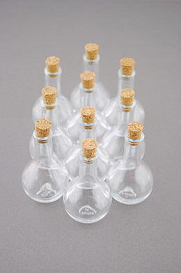 Mini Glass Bottle with Cork 3in (Pack of 10)
