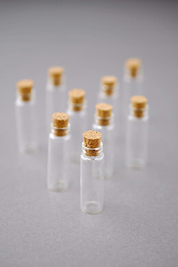 Mini Glass Bottles with Cork 2ml 1.375in  (Pack of 12)
