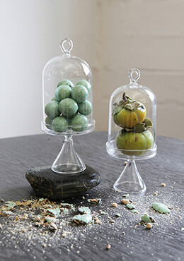 Set of Four Mini Glass Cloches 5.5in.