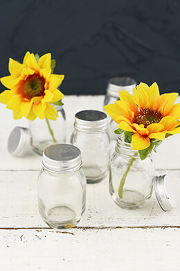 "24 Mini 2.5"" Mason Jars with Lids"