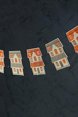Mini Haunted House Banner 8ft
