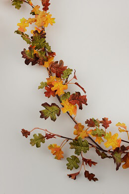 Mini Oak Leaf Garland 6ft