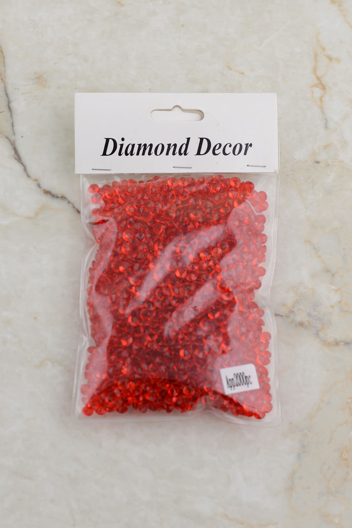 Table Scatter Diamonds Red |&nbsp2000 pieces