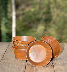 Mini Rusty Buckets (Set of 6)