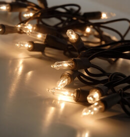 Mini String Lights Brown Wire