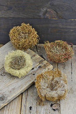 Miniature Bird Nests 4in (Set of 4)