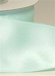 "Mint Green Satin Ribbon 1-1/2"" wide x 10 yds (wired)"