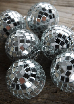 6 Mosaic Mirror Disco Balls 2in