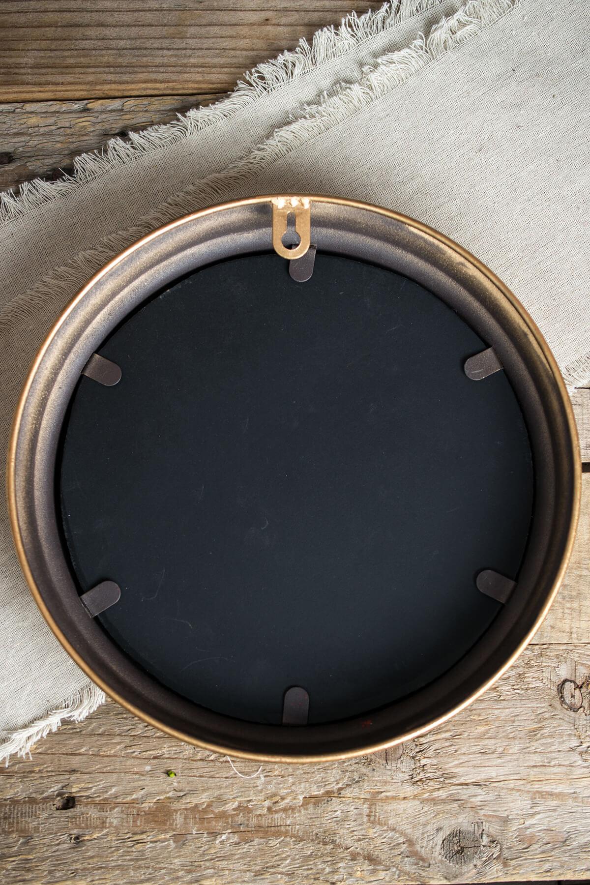 Gold Framed Round Mirror  8in