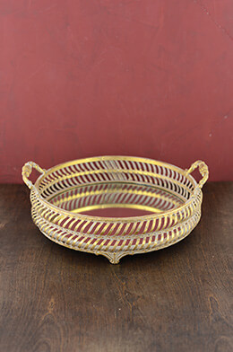 Mirror Tray Gold 11x12in