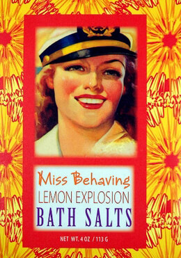 Miss Behaving Lemon Explosion Bluebird Bath Salts