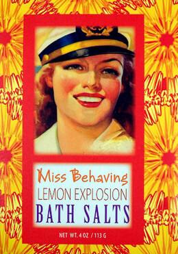 Miss Behaving Lemon Explosion Bluebird Bath Salts