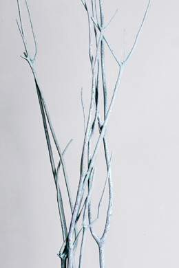3 Ice Blue Glittered Mitsumata Branches 42-48in