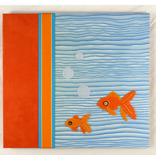 "Baby Memory Album""Fishy""  by Molly West   12x12  Handbound Books"