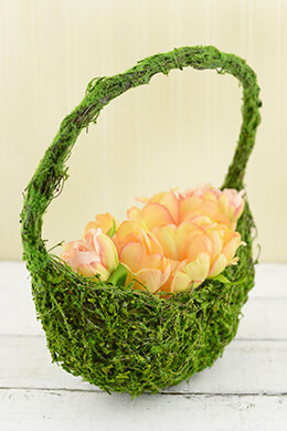 Moss Basket Half Moon 12in