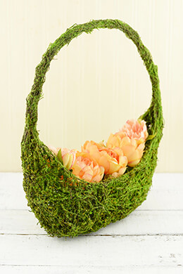 Moss Basket Half Moon 15in