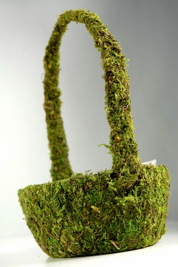 "Moss Covered Basket  9"" x 5"""