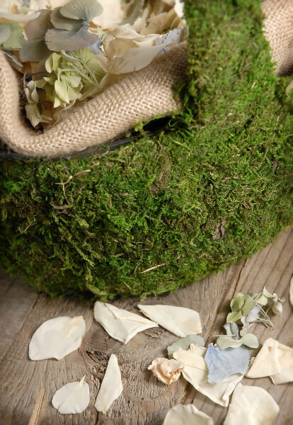 Moss Covered Baskets Medium 14 x 9  Wedding Decorations