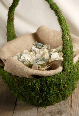 Moss Covered Baskets 15 x 13