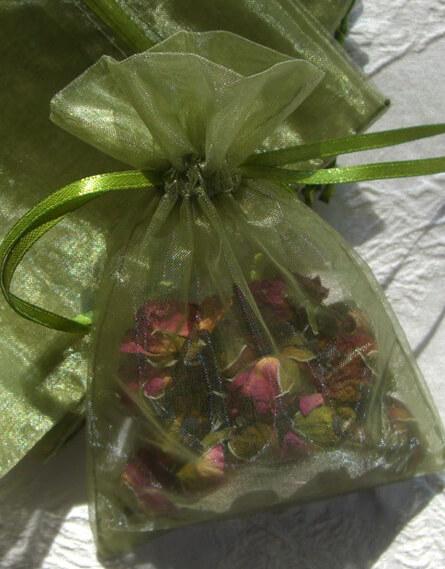 Moss Green Organza 4x6 Favor Bags (10 bags/pkg)