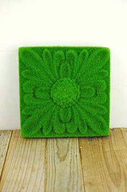 Moss Tile Floral 8.5in (Pack of 6)