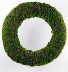 Moss Wreath Artificial19in