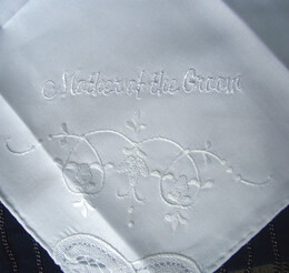 "Wedding Handkerchief ""Mother of the Groom"""