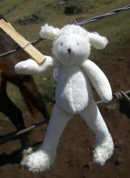 "Moulin Roty 7"" Baby Albert the Lamb"