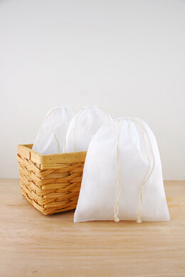 Muslin Favor Bags White 8x10in (Pack of 12)