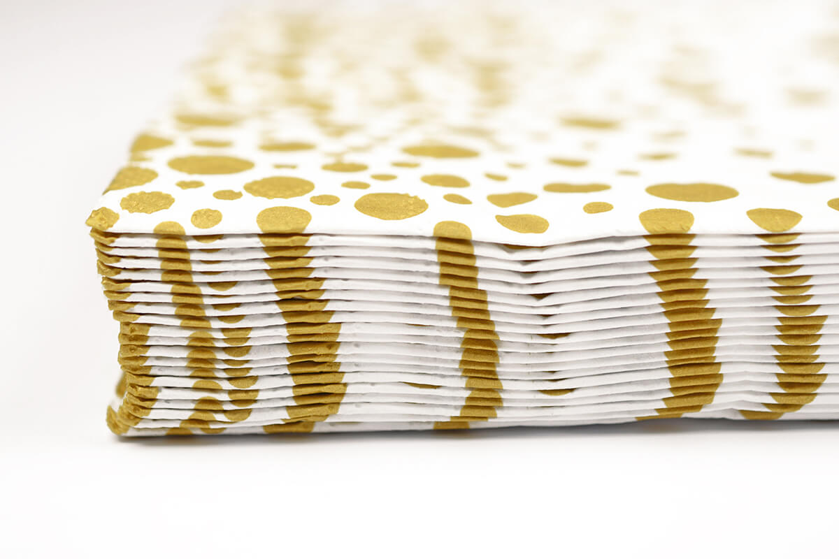 Sparkling Gold Dots Cocktail Napkin
