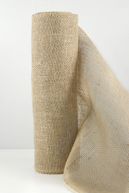 "Natural Burlap Jute Roll Fabric 10 yards (30 foot) x 14"" wide"