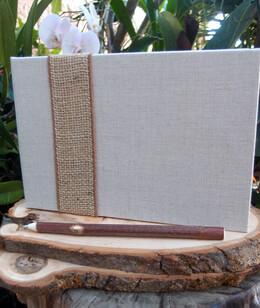 Natural Burlap & Linen Guest Book Registry