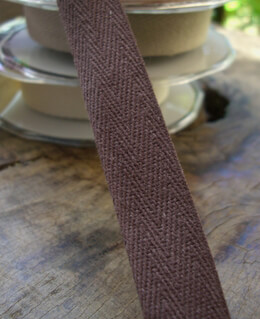 Twill Ribbon Brown 3/4in x 9 yards