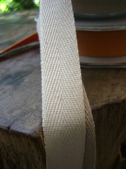 Natural Cotton Twill Ribbon .75in x 9yds