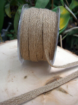 "Jute Ribbon Braided 1/2"" x 20yds"