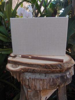 Natural Linen Guest Book