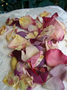 Wedding Rose Petals 5 cups  Natural - Freeze Dried- Soft Petals- Assorted