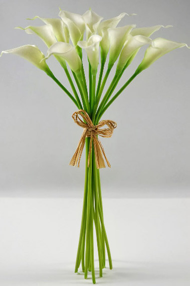 "Real Touch Calla Lily Bouquet (2"" Blooms) 14in"
