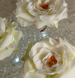 "Natural Touch Flowers Cream White Floating Roses (4 3/4"")"