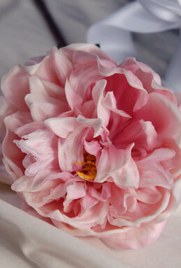 "Real Touch Peony Pale Pink - 30"" Tall x 6"" Wide"