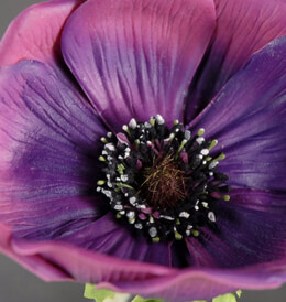 Natural Touch Flowers Purple Anemone