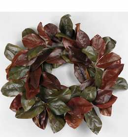 "Natural Touch Magnolia 14"" Wreath"