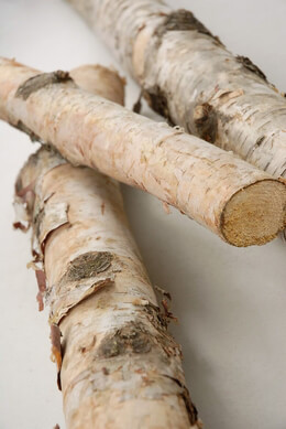 "Natural White 32-34"" Birch Poles Logs"