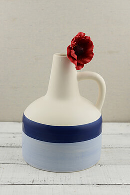 "10"" Ceramic Coastal Blue Jug"