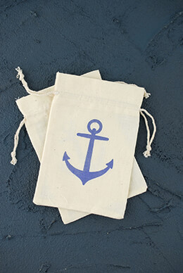Nautical Favor Bags (Set of 12)