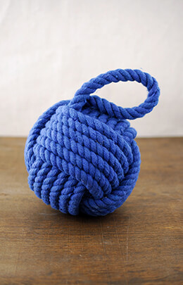 Nautical Rope Ball Blue 6in