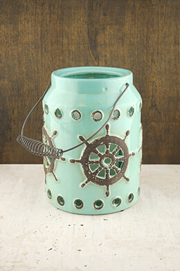 Neely Nautical Lantern - Small Blue 9x7