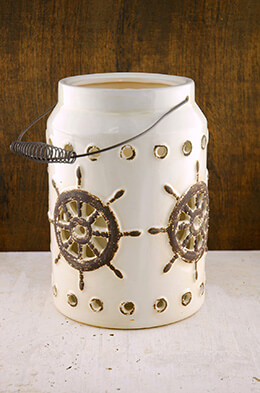Neely Nautical Lantern White 11in