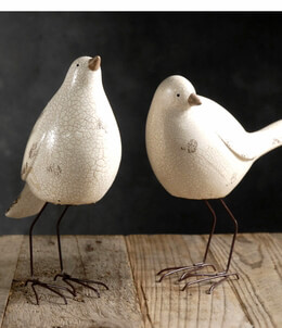 Bird Figurines White (Set of 3)