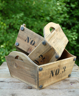 Nested Wood Centerpiece Boxes (Set of 3)